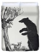 The Bear And The Fox Duvet Cover