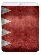 The Flag Of The Kingdom Of Bahrain Vintage Version Duvet Cover
