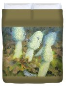 The Green Man With Fly Agaric Duvet Cover