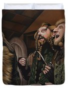 The Hobbit And The Dwarves Duvet Cover by Paul Meijering