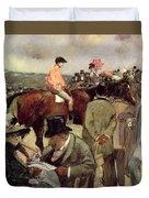 The Horse Race Duvet Cover by Jean Louis Forain