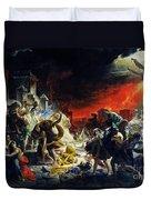 The Last Day Of Pompeii Duvet Cover
