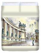 The Millennium Monument In Budapest Duvet Cover