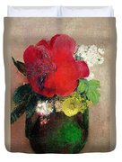 The Red Poppy Duvet Cover by Odilon Redon