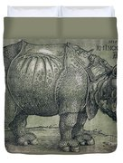 The Rhinoceros Duvet Cover by Albrecht Durer