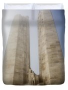 Towers In The Mist Duvet Cover