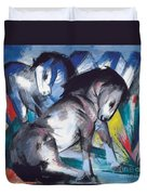 Two Horses Duvet Cover