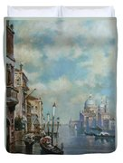 Venice At Noon Duvet Cover