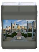 View Of Charlotte Skyline Duvet Cover