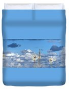 Water Windmills Duvet Cover by Stelios Kleanthous