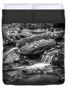 Waterfall Great Smoky Mountains Painted Bw    Duvet Cover
