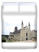 West Facade Of The Church - Fontevraud Abbey Duvet Cover
