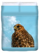 What Are You Looking At Red Shoulder Hawk Duvet Cover