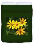 Yellow Texas Wildflowers Duvet Cover