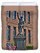 001 American Doughboy Over The Top To Victory Duvet Cover