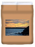 001 Awe In One Sunset Series At Erie Basin Marina Duvet Cover