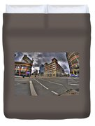 001 Delaware And The Chipp Stripp Duvet Cover