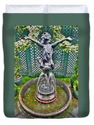 001 Fountain Buffalo Botanical Gardens Series Duvet Cover