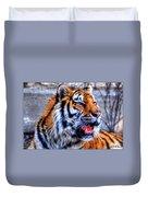 001 Siberian Tiger  Duvet Cover