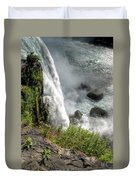 0010 Niagara Falls Misty Blue Series Duvet Cover