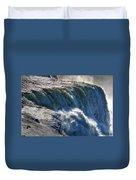 0010 Niagara Falls Winter Wonderland Series Duvet Cover