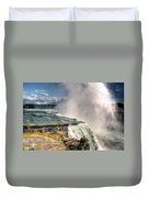 0011 Niagara Falls Misty Blue Series Duvet Cover