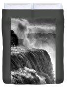 0011a Niagara Falls Winter Wonderland Series Duvet Cover
