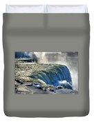 0013 Niagara Falls Winter Wonderland Series Duvet Cover