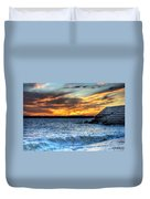 0015 Awe In One Sunset Series At Erie Basin Marina Duvet Cover