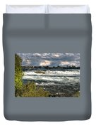 0015 Niagara Falls Misty Blue Series Duvet Cover