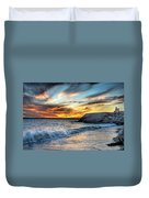 0016 Awe In One Sunset Series At Erie Basin Marina Duvet Cover