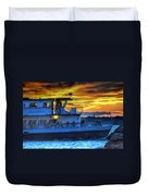 0017 Awe In One Sunset Series At Erie Basin Marina Duvet Cover