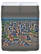 0017 Visual Highs Of The Queen City Duvet Cover