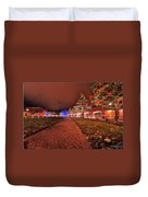 002 Christmas Light Show At Roswell Series Duvet Cover