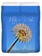 002 Make A Wish With Text Duvet Cover