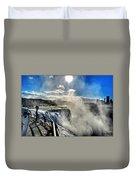 002 Niagara Falls Winter Wonderland Series Duvet Cover