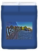002 We Will Not Forget At The Erie Basin Marina Duvet Cover