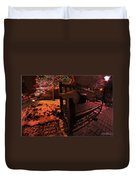 003 Christmas Light Show At Roswell Series Duvet Cover