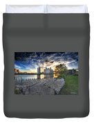 003 General Mills At Sunset Duvet Cover