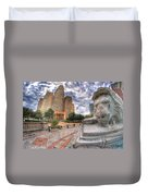 003 Sleeping Lions City Hall View  Duvet Cover