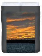 004 Awe In One Sunset Series At Erie Basin Marina Duvet Cover