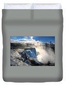 004 Niagara Falls Winter Wonderland Series Duvet Cover