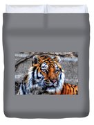 004 Siberian Tiger Duvet Cover