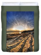 005 After The Ice Melts Erie Basin Marina Series Duvet Cover