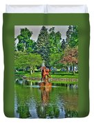 005 Reflecting At Forest Lawn Duvet Cover