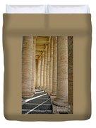 0056 Roman Pillars St. Peter's Basilica Rome Duvet Cover