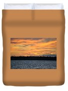 006 Awe In One Sunset Series At Erie Basin Marina Duvet Cover