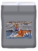 006 Siberian Tiger Duvet Cover