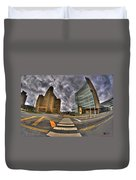 007 City Hall And The Court House Duvet Cover