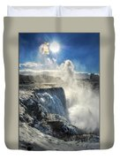 007 Niagara Falls Winter Wonderland Series Duvet Cover